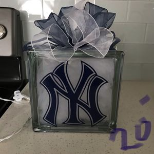 NY Yankees Glass Block Night Light **last one on sale** for Sale in Lake Wales, FL