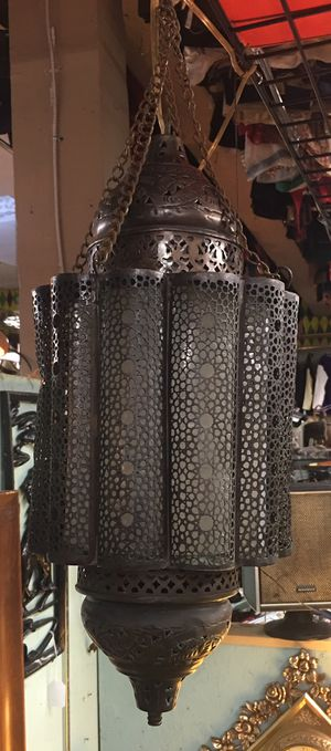 Antique Moroccan bohemian hanging lamp for Sale in Portland, OR