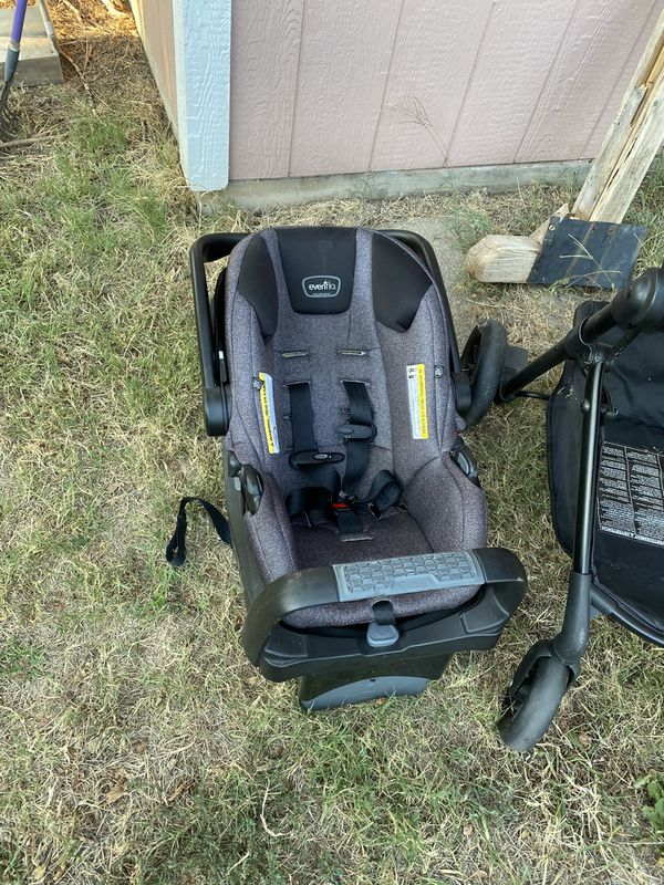 Evenflo car seat and carriage with stroller