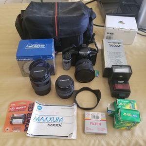 Minolta Maxxum 5000i Camera set for Sale in Holiday, FL