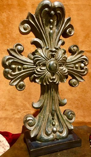 Decorative composite Cross Vase H15xW10xD4 inch for Sale in Chandler, AZ