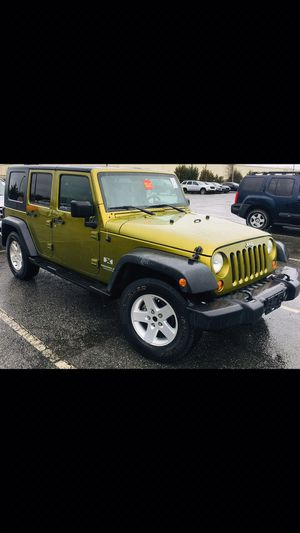 07 JEEP Wrangler unlimited X 135k miles clean title for Sale in Charlotte, NC