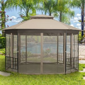 10x12 Ft Octagon Outdoor Gazebo Patio Shelter Tent Canopy Netting Enclosure for Sale in Sacramento, CA