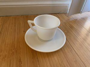 1950's Milk Glass Teacup & Saucer for Sale in Corona, CA