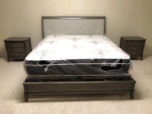 BRAND NEW GREY LEATHER BEDROOM SET for Sale in Atlanta, GA