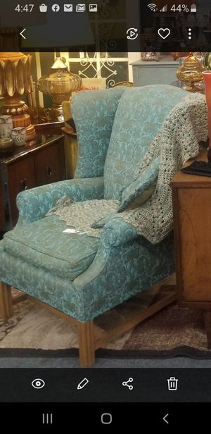 Vintage chair / turquoise and green for Sale in Clovis, CA