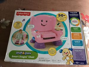 Fisher price Laugh and Learn smart stages chair - sparingly used for Sale in Edison, NJ