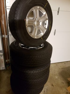 5 Jeep Wrangler GoodYear Kevlar reinforced Tires and Wheels. O miles. for Sale in Renton, WA