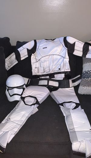 Boys size 13-14 large storm trooper costume with mask for Sale in Santa Ana, CA