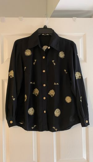 Versace design ladies shirt/ blouse size 10 for Sale in Rockville, MD