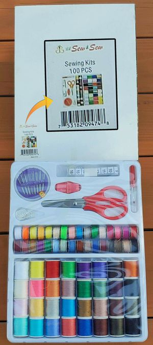 BRAND NEW Michley Lil' Sew & Sew 100-Piece Sewing Kit de costura de 100 piezas 32 Spools w Matching Bobbins, Scissors, Needles, various colored thread for Sale in Rancho Cucamonga, CA