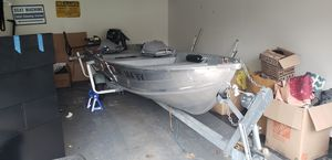 14ft Aluminum fishing boat. New tags crabbing for Sale in Beaverton, OR