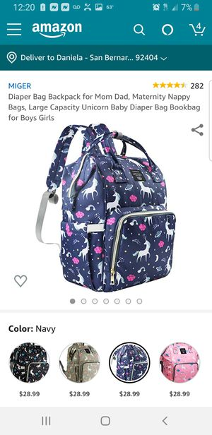 Blue large unicorn diaper bag for Sale in Bell Gardens, CA