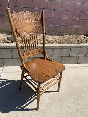 Oak table and 6 chairs for Sale in Los Angeles, CA
