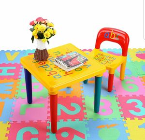 Alphabet ABC Children's Desk and Chair Set Child Kids Study Printing Table Set for Sale in Silver Spring, PA