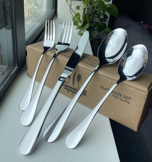 Massugar 20-Piece Silverware Set - Mirror Polished Stainless Steel for Sale in San Francisco, CA