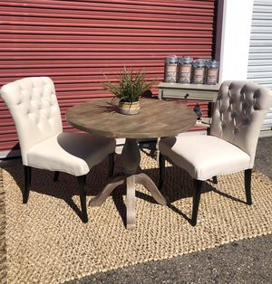 World Market drop leaf dining table with 2 chairs & buffet for Sale in San Diego, CA