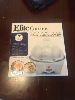 Elite cuisine easy egg cooker for Sale in Alexandria, VA