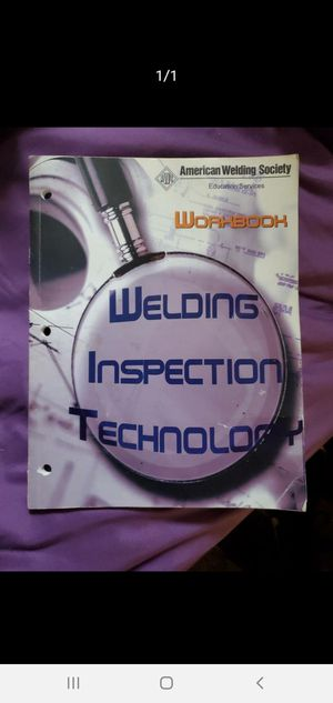 Pre-test Welding Inspection Workbook for Sale in Madison Heights, VA