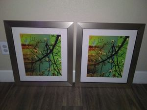 Beautiful Silver and Black Picture Frames With White Photo Borders in Nearly Perfect Condition for Sale in Phoenix, AZ
