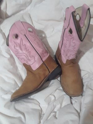 OLD WEST PINK COWBOY GIRL BOOTS SIZE 12 for Sale in Richardson, TX