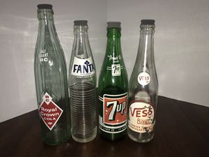 Vintage Glass Soda Pop Bottles - lot of 4 for Sale in Maryland Heights, MO