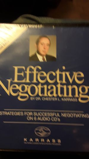 Effective negotiating by doctor Chester L Karris 6 cedis for Sale in Greensboro, NC