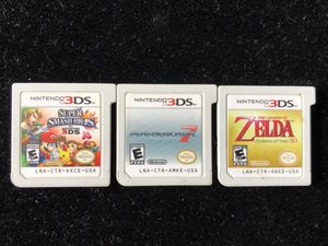 Nintendo 3DS GAME LOT OF 3(SUPER SMASH BROS MARIOKART 7 ZELDA OCARINA OF TIME) for Sale in Atlanta, GA