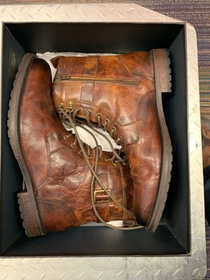 ASTON GREY Cable Leather Boots Brown for Sale in Lexington, SC