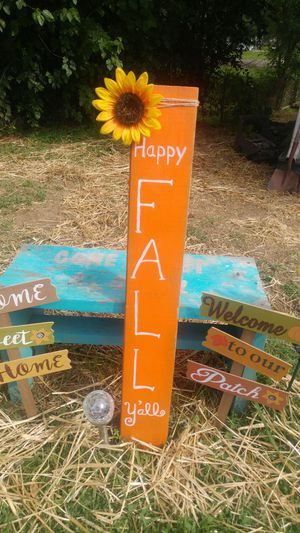 Hand Painted Fall Sign for Sale in Knoxville, TN