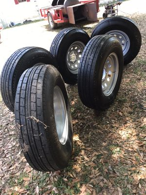 Trailler tires st 235/80R16 /10 ply $135 OR $575 ALL for Sale in Bartow, FL