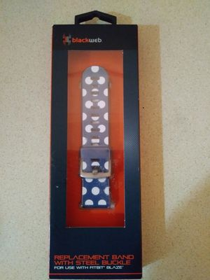 For Fitbit Blaze/ Replacement Band with Steel Buckle (Blackweb) for Sale in Lubbock, TX