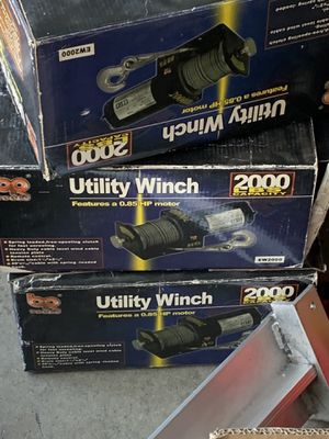2000 lbs Universal Heavy Duty Electric ATV Utility Winch for Sale in South El Monte, CA