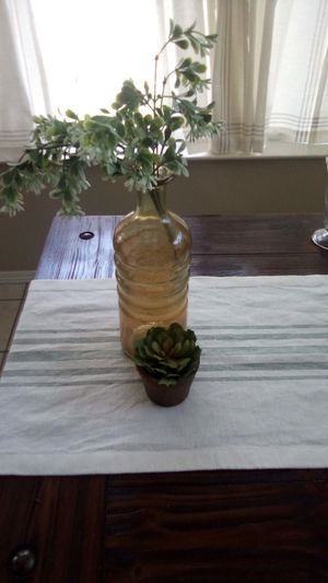 Decorative Vase and Small Artificial Succulent for Sale in Baytown, TX
