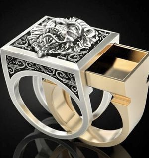 Domineering Lion Head Men's Ring / 925 sterling silver for Sale in Ben Wheeler, TX