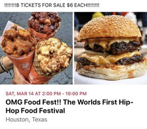 HIP HOP FOOD FESTIVAL for Sale in Rosenberg, TX