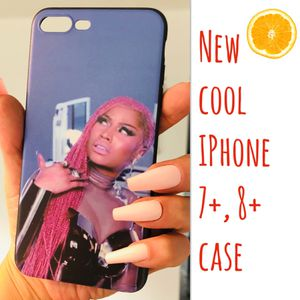 "New cool iphone 7+ or iphone 8+ PLUS case rubber pretty girls womens NICKI MINAJ ""BRAIDS"" for Sale in San Bernardino, CA"