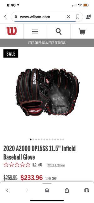 Wilson A2000 baseball glove Brand new 11.5 inch for Sale in La Verne, CA