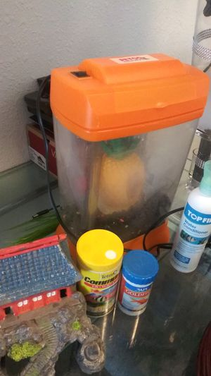 Fish tank set from petco $5 bucks everythinggg for Sale in Salt Lake City, UT