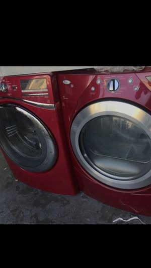Red washer and dryer frontload for Sale in La Habra, CA