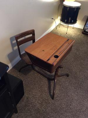 Antique kids children's child desk great condition for Sale in Clovis, CA