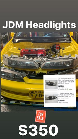 jdm integra headlights for Sale in Morrisville, PA