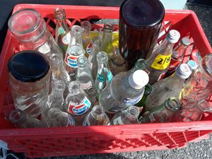 Over 25 antique bottles soda glass bottles for Sale in Dearborn Heights, MI