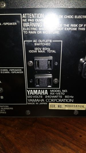 Yamaha stereo Receiver for Sale in Port St. Lucie, FL