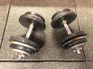 Adjustable Dumbbells 💪🏻 Set 35 lbs Each for Sale in Santa Clarita, CA