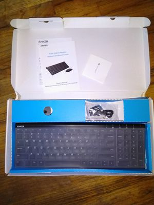 Anker 2.4GHz Wireless Keyboard and Mouse Combo for Windows Devices, Portable Design with Built-in Lithium Battery for Sale in Los Angeles, CA
