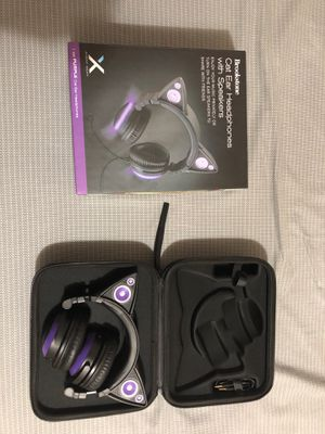 Brookstone cat ear headphones (purple LED) for Sale in Portland, OR