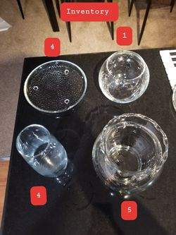 Glass plant/cutling/candle holders 75 cents each or 2 for $1 for Sale in Columbus,  OH