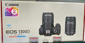 Canon EOS 1300D EF-S 18-55 IS III EF-S 55-250 IS II kit for Sale in Miami, FL