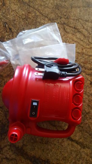 Brand new Mini Cool Aire Inflator!! Blows up balloons, air mattress and inflates. Never overheats! $250 new for Sale in Rancho Cucamonga, CA